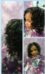 kids silk press curl